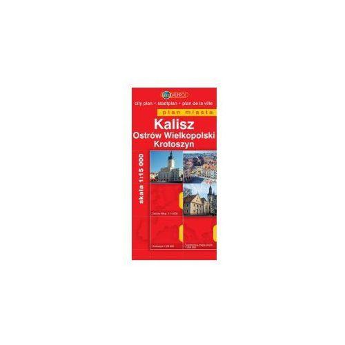 Mapy i atlasy turystyczne, Kalisz Ostrów Wielkopolski Krotoszyn mapa 1:15 000 Daunpol (opr. miękka)