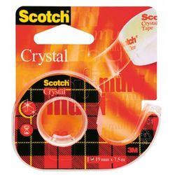 Taśma biurowa 3M Scotch Crystal Clear z dyspenserem 6-1975 19mm x 7,5m