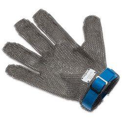Rękawica metalowa z niebieskim paskiem, krótka, rozmiar L   GIESSER, 9590 00