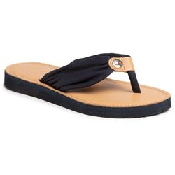 Japonki TOMMY HILFIGER - Leather Footbed Beach Sandal FW0FW00475 Desert Sky DW5