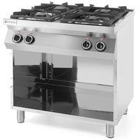 Piece i płyty grzejne gastronomiczne, Hendi Kuchnia gazowa 4-palnikowa Kitchen Line na podstawie otwartej - kod Product ID