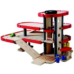 Plan Toys Drewniany parking-garaż z akcesoriami - BEZPŁATNY ODBIÓR: WROCŁAW!