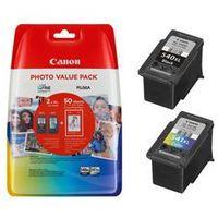 Papiery i folie do drukarek, Komplet Canon PG-540XL + CL-541XL 21ml + 15ml + 50ark. papieru fotograficznego oryginalny