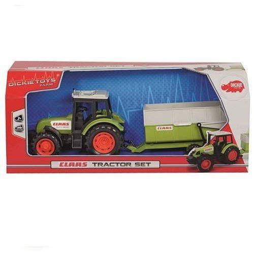 Traktory dla dzieci, Traktor Claas z przyczepą, 36 cm