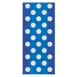 Torebki prezentowe niebieskie w białe kropki - 28,5 x 12,5 cm - 20 szt.