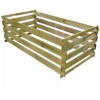 Kompostowniki, vidaXL Kompostownik, impregnowane drewno sosnowe, 160x80x58 cm Darmowa wysyłka i zwroty