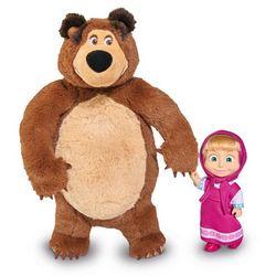 SIMBA zestaw do gry Masza i Niedźwiedź - pluszowy niedźwiedź i lalka Maszy