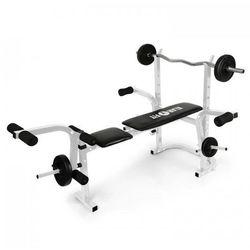 Workout Hero ławeczka do ćwiczeń ze sztangą stojak curler doćwiczeń bicepsów belka doćwiczeń mięśni nóg