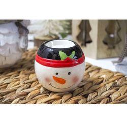 Świąteczny świecznik ceramiczny