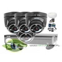 Zestawy monitoringowe, Zestaw do monitoringu: BCS-XVR0801+ 4x Kamera BCS-DMQE3200IR3+ Dysk 1TB + Akcesoria