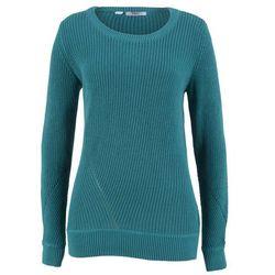 Sweter bawełniany, długi rękaw bonprix kobaltowo-turkusowy