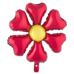 Balon foliowy Kwiatek czerwony - 55 cm - 1 szt.