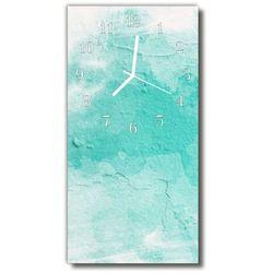 Zegar Szklany Pionowy Ściana farba zielony