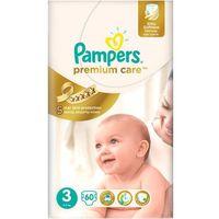 Pieluchy jednorazowe, Pieluchy jednorazowe PAMPERS Premium Care 3 Midi 5-9 kg (60 sztuk)