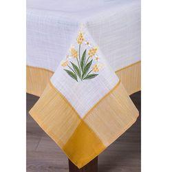 Obrus haftowany MESSINA 135x220 żółty