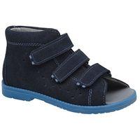 Obuwie profilaktyczne dziecięce, Sandały Profilaktyczne Ortopedyczne Buty DAWID 1043 Granat GN - Granatowy   Niebieski
