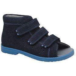 Sandały Profilaktyczne Ortopedyczne Buty DAWID 1043 Granat GN - Granatowy ||Niebieski