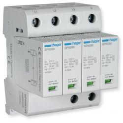 Hager SPD Ogranicznik przepięć 4P MOV T1+T2, 12,5 kA, TN-S klasa B+C SPN901
