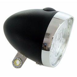 Lampa przednia XC Light Retro - 764B, 3 diody LED, zasilane 3x AAA, czarna