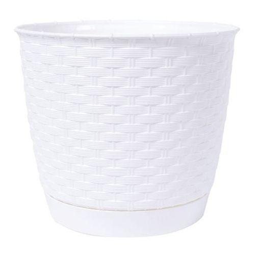 Doniczki i podstawki, Doniczka Ratolla Round biała 22 cm