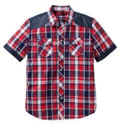 Koszula z krótkim rękawem Regular Fit bonprix czerwony w kratę