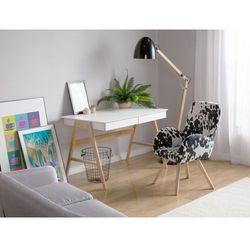 Fotel czarno-biały - wypoczynkowy - do salonu - tapicerowany - BJARN
