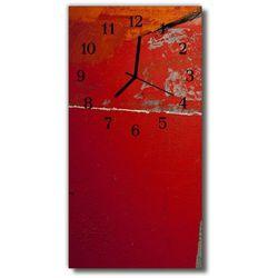 Zegar Szklany Pionowy Farba czerwony