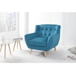 Fotel tapicerowany THICK niebieski