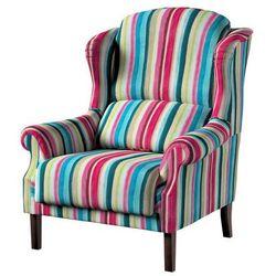 Dekoria Fotel Unique, kolorowe pasy z przewagą turkusu i różu, 85×107cm, Monet