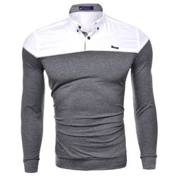 Koszula męska długi rękaw rl02 - antracytowy