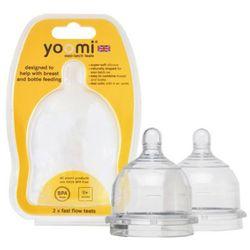 YOOMI 2szt Smoczek silikonowy do butelki 3m+ Średni przepływ
