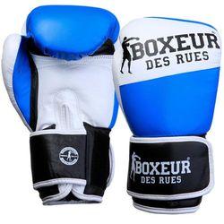 Rękawice bokserskie BOXEUR BXT-591 (10 oz) Niebiesko-biały DARMOWY TRANSPORT