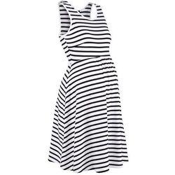 Sukienka ciążowa w paski bonprix czarno-biały w paski