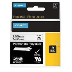 Dymo taśma do drukarek etykiet 1805442, czarny druk/biały podkład, 5.5m, 6mm