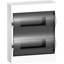 Rozdzielnica modułowa 2x12 natynkowa IP40 drzwi transparentne Easy9 EZ9E212S2S Schneider