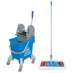 Wiaderko na kółkach 31 l z wyciskarką do mopów i mopem płaskim 40 cm Wózek do sprzątania, Wózki do sprzątania, Splast