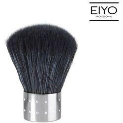 Pędzelek do pyłu Nails Company - srebrny z czarnym włosiem