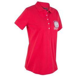 Shirt polo z bawełny pique z nadrukiem, krótki rękaw bonprix czerwony