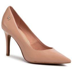 Szpilki TOMMY HILFIGER - Feminine Patent High Heel Pump FW0FW04815 Sandbank TRK