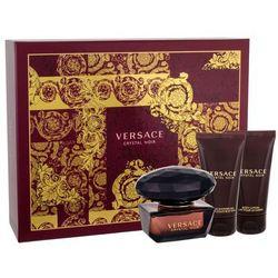 Versace Crystal Noir zestaw Edt 50ml + 50ml Balsam + 50ml Żel pod prysznic dla kobiet