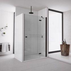 Sanswiss Annea drzwi do wnęki ze ścianką stałą uchylne 80 cm prawe czarne AN13D08000607
