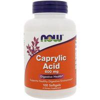 Witaminy i minerały, NOW FOODS Caprylic Acid 600mg - 100 kapsułek