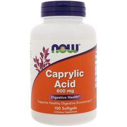 NOW FOODS Caprylic Acid 600mg - 100 kapsułek