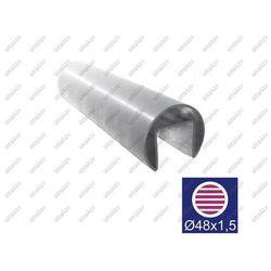 Poręcz, uchwyt na szkło AISI316, D48,3/27x30/L2500