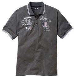 Shirt polo Regular Fit bonprix szary
