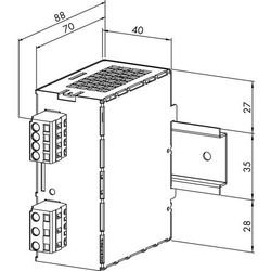Zasilacz na szynę DIN WAGO 787-601, 12 V/DC (SELV), 2 A, 24 W