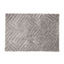 Dywan shaggy MAZE z efektem 3D – poliester – kolor szary – 160 × 230 cm