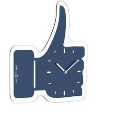 Nextime:: Zegar Ścienny Thumbs Up 41,5 x 40cm Niebieski Powrót do szkoły 2018 -20% (cz.2) (-20%)