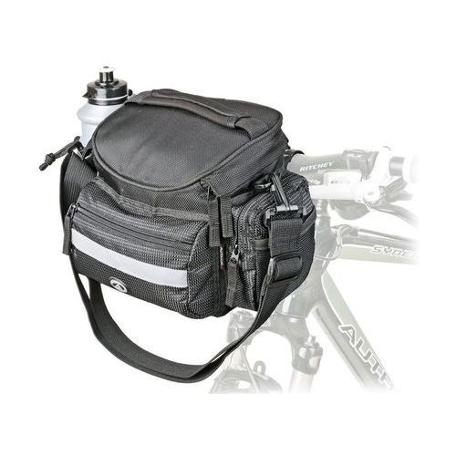 Sakwy, torby i plecaki rowerowe, 15-002530 Torba na kierownicę Author A-H740N, czarna, 25.4-31.8 mm