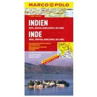 Mapy i atlasy turystyczne, Indie, Nepal, Butan, Bangladesz, Sri Lanka 1:2 500 000. Mapa samochodowa, składana. Marco Polo (opr. twarda)